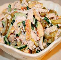 Низкокалорийный салат с омлетом