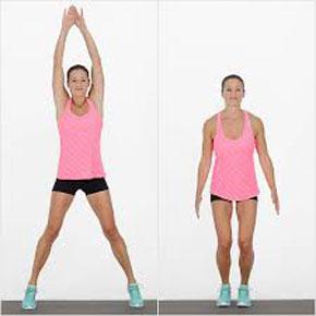 прыжки для похудения без скакалки