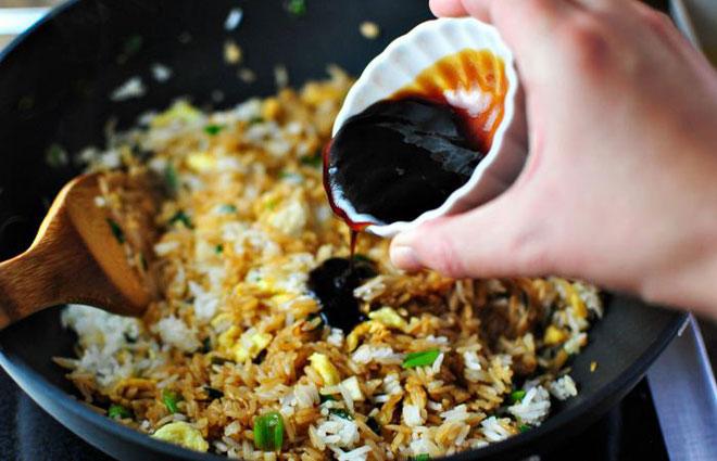 рецепт блюда с рисом и соевым соусом