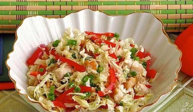 фитнес салат с куриным филе