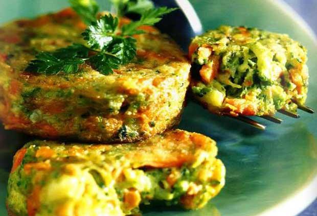 диетические котлетки с брокколи и морковью