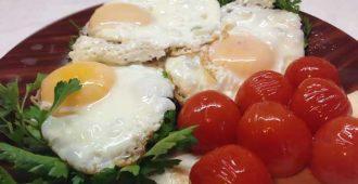 сколько калорий в яичнице из 1, 2, 3 или 4 яиц