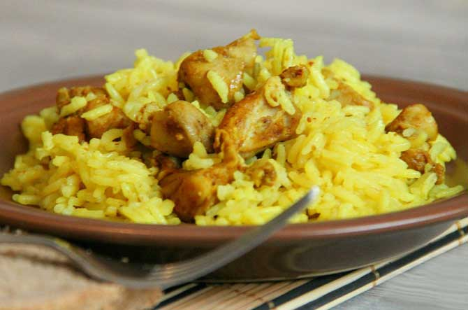 рис с курицей по-восточному