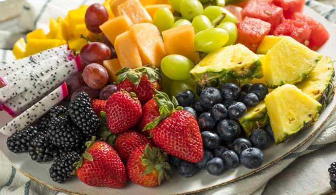 фрукты в меню